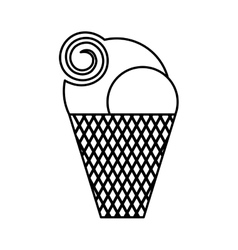 Delicious sweet ice cream vector