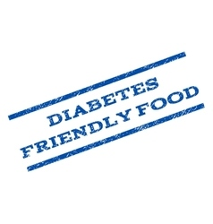 Diabetes Friendly Food Watermark Stamp vector image
