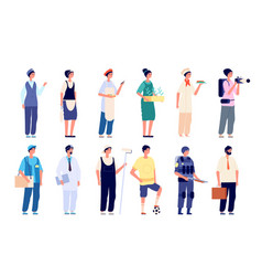 different professionals group workers vector image