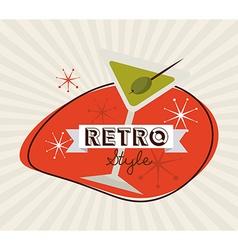 drink retro label vector image