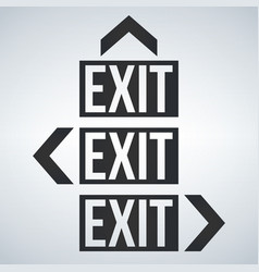 emergency exit with arrow icons set vector image