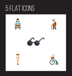 Flat icon handicapped set of stand disabled vector