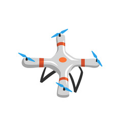 flying quadrocopter cartoon icon of drone with vector image