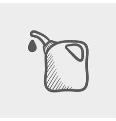 Gas pump nozzle sketch icon vector image