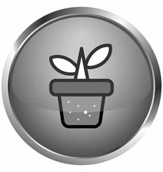 Icon flowerpot vector