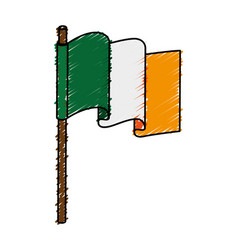 Ireland flag isolated icon vector
