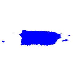 Map of puerto rico vector