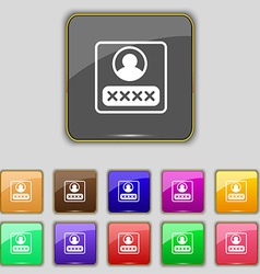 modern depicting a login icon sign Set with eleven vector image