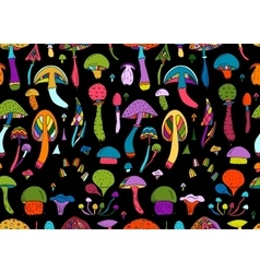 Mushrooms seamless pattern for your design vector image