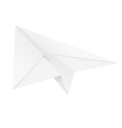 paper airplane folded glider vector image