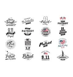 Patriot day typographic vector
