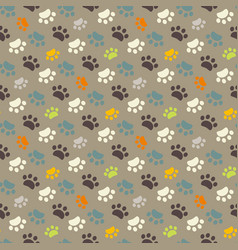paw pattern animal imprint vector image