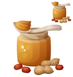 peanut butter icon isolated on white background vector image