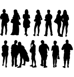 peoples vector image