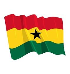 Political waving flag ghana vector