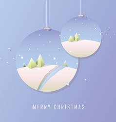 Polygonal Christmas design in baubles vector