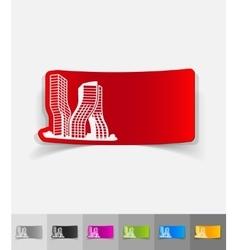 realistic design element dubai building vector image