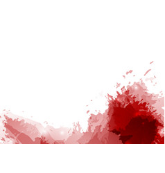 red paint splatter abstract modern background vector image