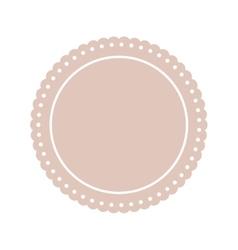 Round label insignia vector