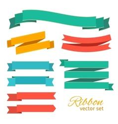 set ribbons vintage style for design vector image