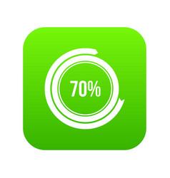 sign 70 load icon digital green vector image