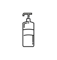 Soap foam spray thin line icon design vector