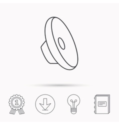 Sound icon Audio speaker sign vector