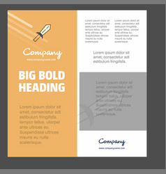 sword business company poster template with place vector image