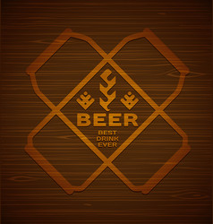 template with beer cans vector image