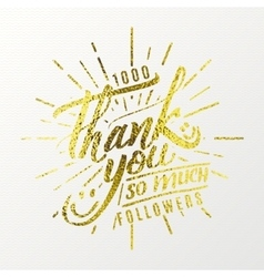 Thank you so much - calligraphic phrase written in vector