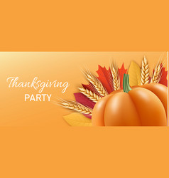 thanksgiving party concept banner realistic style vector image
