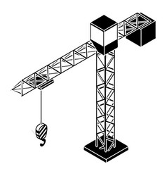 tower crane icon simple style vector image