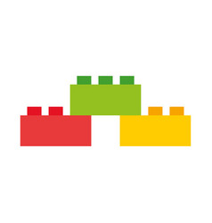 toy blocks structure icon vector image