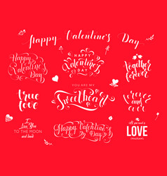 valentine day hand drawn calligraphy love vector image