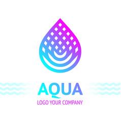 Water drop symbol bright color vector