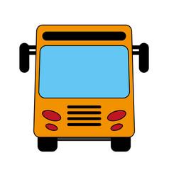 Yellow bus design vector