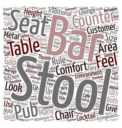 Bar Stools A Buyers Guide text background vector image vector image