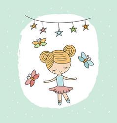 Cartoon ballerina girl cartoon ballerina girl vector