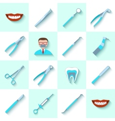 Dental instruments icons set vector image vector image