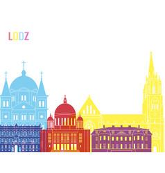 lodz skyline pop vector image