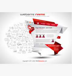 modern style origami web template design with vector image