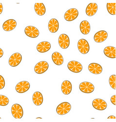 sliced oranges seamless pattern on white vector image vector image