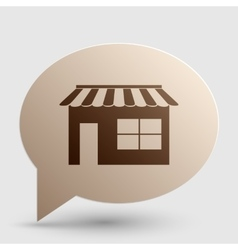 Store sign Brown gradient icon on vector image
