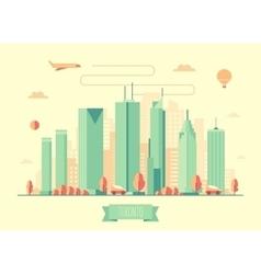 Toronto skyline architecture flat design vector image