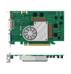 video card isolated on white vector image vector image