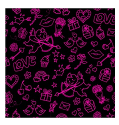 lovely doodles vector image vector image