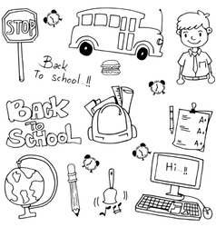School education doodles art vector