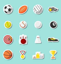 Sports stickers set vector image vector image
