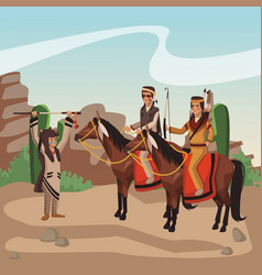 american indian tribe vector image