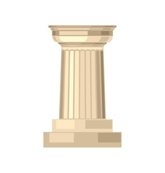 Doric realistic antique greek marble column vector image